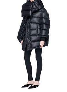 Balenciaga'Outspace' scarf oversize quilted down jacket