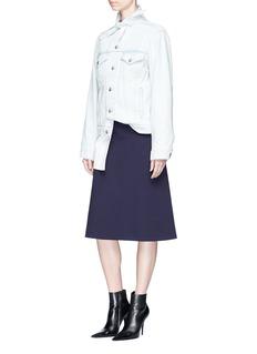 BalenciagaScarf collar denim jacket