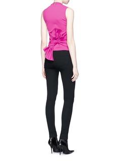 Balenciaga Fold up tie back jersey top