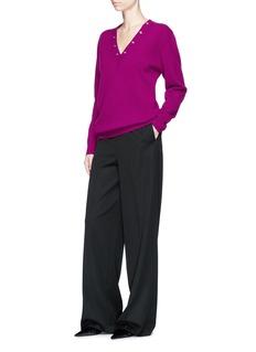 Balenciaga Snap button V-neck sweater