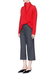 Balenciaga Scarf overlay cutout hem oversized sweater