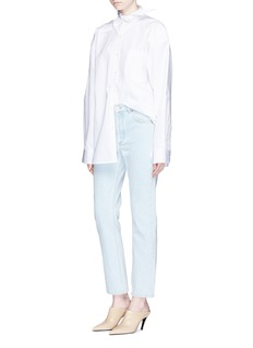 Balenciaga Mid rise bleached jeans