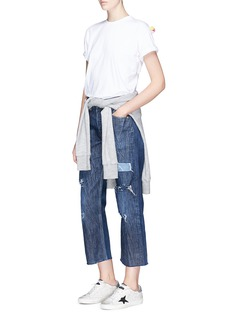 Forte Couture 'Rambo' distressed crinkled cropped jeans