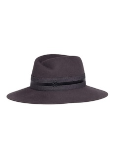Maison Michel 'Virginie' stripe band rabbit furfelt fedora hat