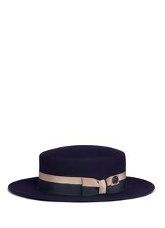 Maison Michel 'Kiki' rabbit furfelt canotier hat