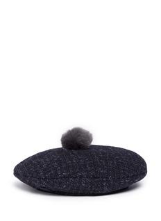 Maison Michel 'New Billy' pompom beret