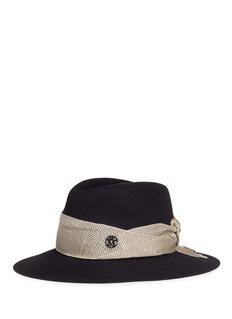 Maison Michel 'Henrietta' metallic band rabbit furfelt fedora hat