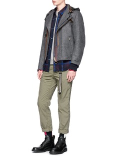 Sacai Ombré check plaid flannel shirt