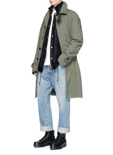 Sacai Oversized hopsack car coat