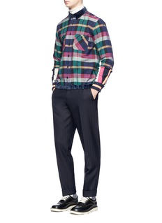 Sacai Check plaid flannel patchwork shirt