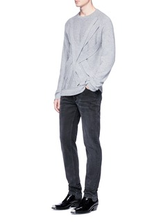 Helmut Lang Overlapping strap cashmere sweater