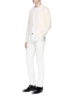 Helmut Lang Attached strap twill bomber shirt