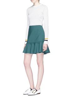 VICTORIA, VICTORIA BECKHAMVirgin wool blend flounce skirt