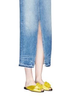 TrademarkPompom satin pyjama sandals