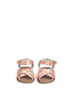 Salt-Water'Original' toddler metallic leather sandals