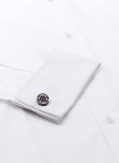 Babette WassermanBlue goldstone disc cufflinks