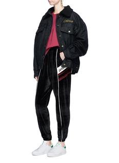 Ground Zero Fleece lined oversized denim jacket