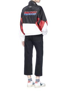 Ground Zero Slogan embroidered twill jacket