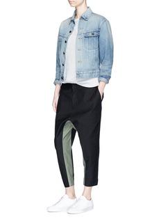 bassike'surplus' colourblock stirrup pants