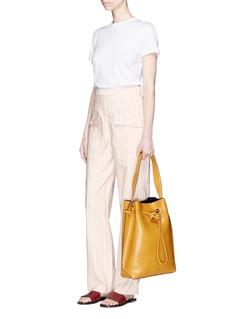 Trademark'The Keaton' leather drawstring shoulder bag