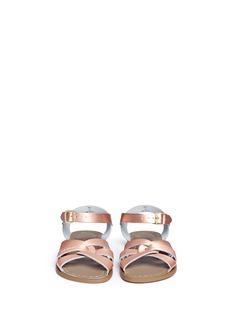 Salt-Water'Original' youth metallic leather sandals