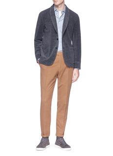 Camoshita Wool-blend soft blazer