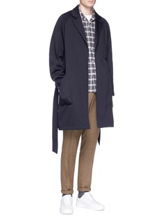 Camoshita Wool-cotton blend twill coat