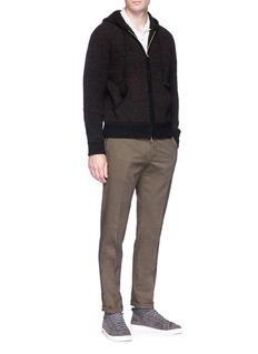 Camoshita Wool-blend zip hoodie