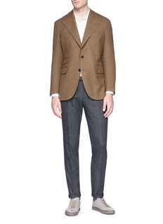 Camoshita Wool houndstooth soft blazer