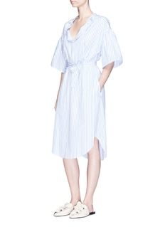Tome Belted stripe cotton poplin peasant tunic