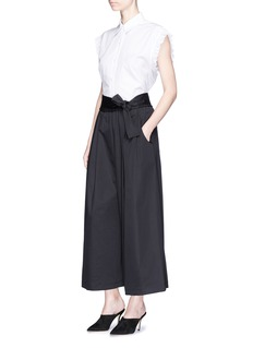 Tome Sateen cropped karate pants
