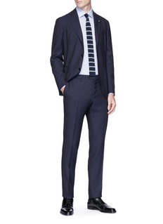 Lardini 'Easy Wear' packable wool travel suit