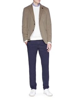 Lardini Brushed cotton twill blazer