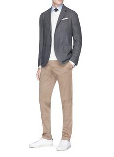 Lardini Wool birdseye soft blazer