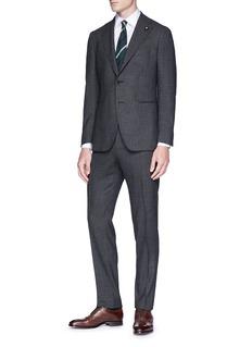 Lardini Micro houndstooth wool suit