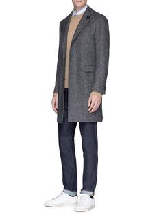 Lardini Wool-cashmere herringbone coat