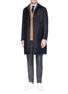 Lardini Cashmere twill padded coat