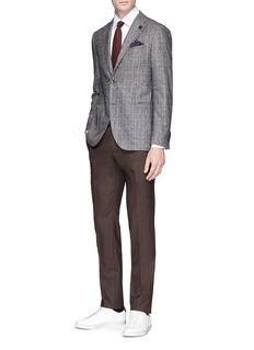 Lardini Windowpane check wool blazer
