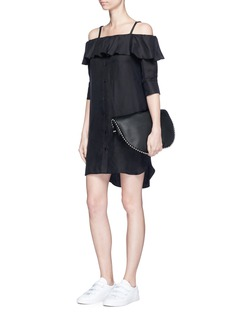 Neil Barrett Off-shoulder herringbone dress