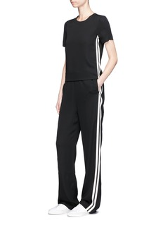 Neil BarrettStripe ribbon trim jumpsuit