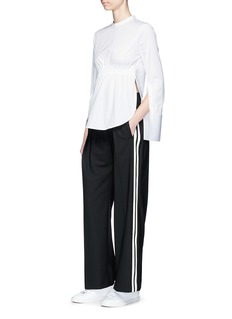 Neil Barrett Stripe outseam gabardine pants