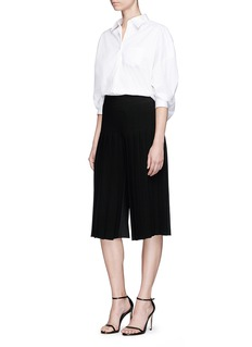 Neil Barrett Pleated crepe hopsack culottes