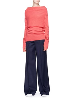 Johanna Ho x Lane Crawford Layered boat neck rib knit top
