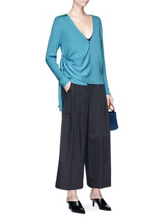 Johanna Ho x Lane Crawford Extended sash rib knit cardigan