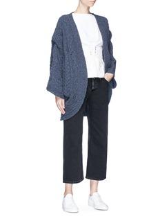 Johanna Ho x Lane Crawford Oversized cable knit poncho