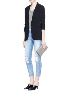L'Agence'El Matador' distressed high rise jeans