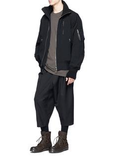 The Viridi-anne Padded wool MA-1 bomber jacket
