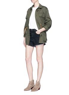 rag & bone/JEAN'Justine' cutoff hem denim shorts