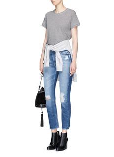 rag & bone/JEAN Stripe linen-modal T-shirt