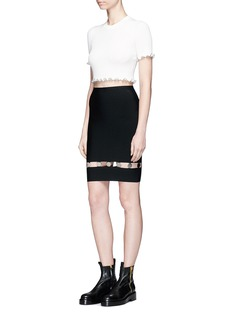 Alexander Wang  Suspended coin charm cutout knit skirt